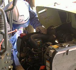 機械の修理